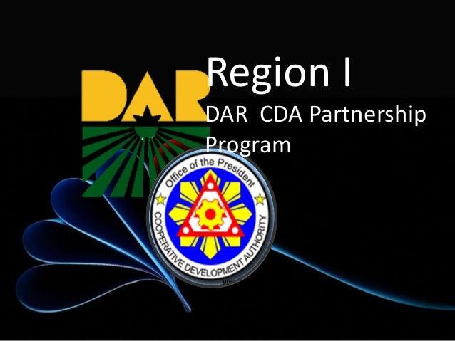 Region I DAR CDA Partnership Program