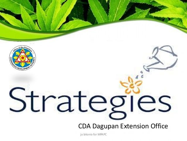 CDA Dagupan Strategies for WFP 2014