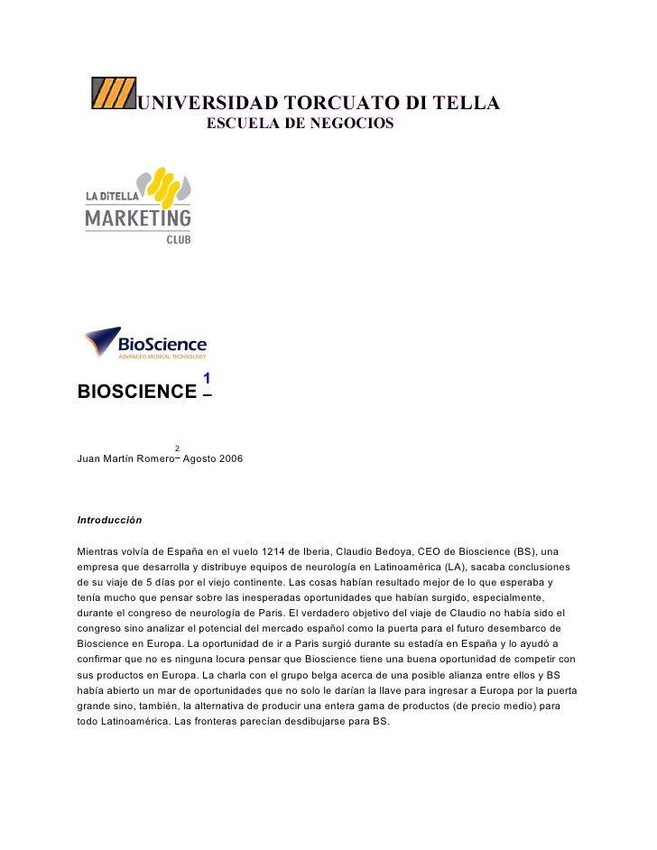 Caso Bioscience UTDT