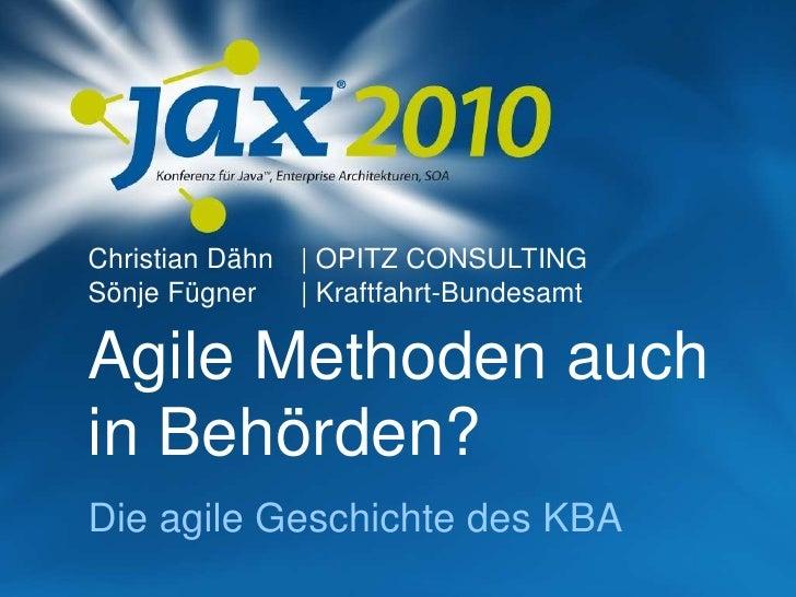 JAX2010 - Agile Methoden in einer Behörde