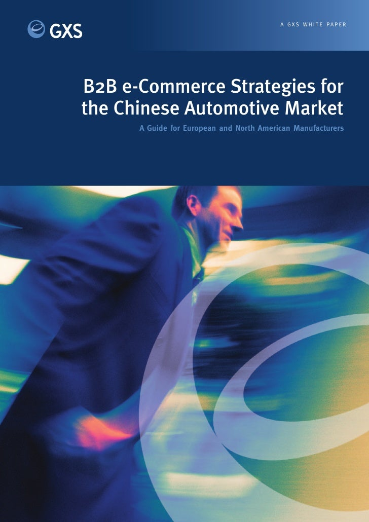 A G X S W H I T E PA P E R     B2B e-Commerce Strategies for the Chinese Automotive Market       A Guide for European and ...
