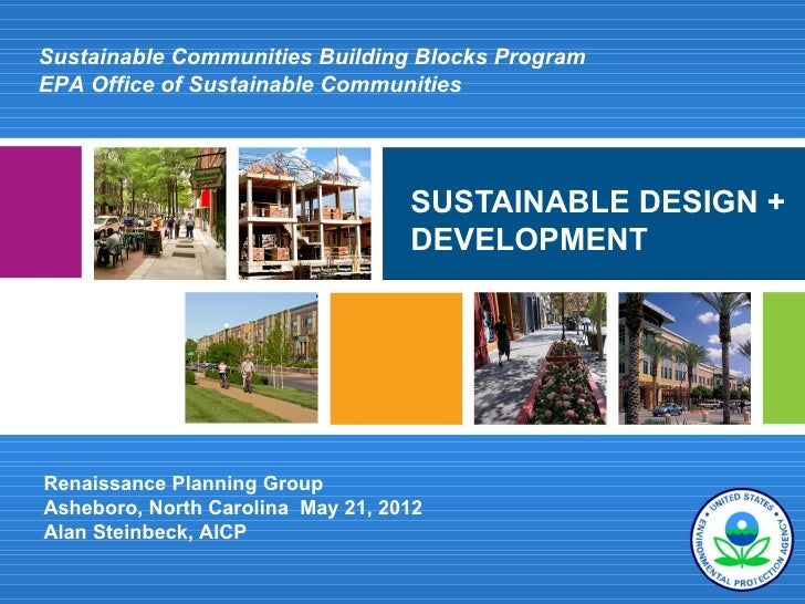 Sustainable Communities Building Blocks ProgramEPA Office of Sustainable Communities                                   SUS...