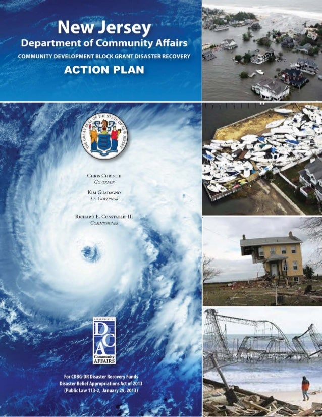 New Jersey revised post-Sandy recovery action plan