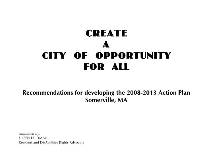 CREATE                        A               CITY OF OPPORTUNITY                     FOR ALL    Recommendations for devel...