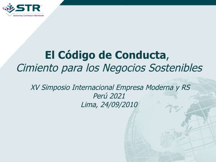 Exposicion Wendy Barahona  Codigo de Conducta