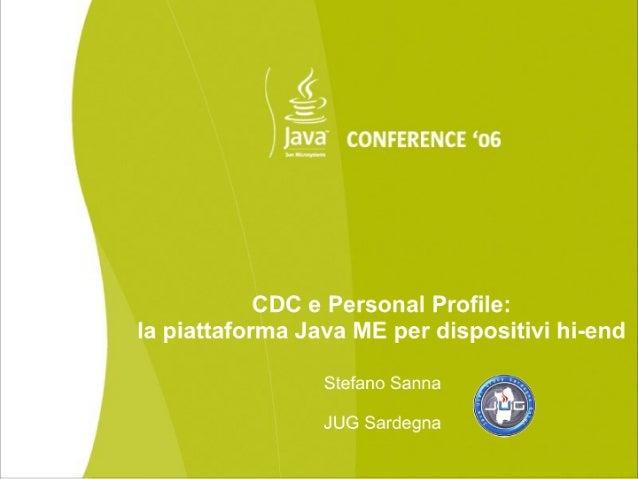 CDC e PersonalProfile