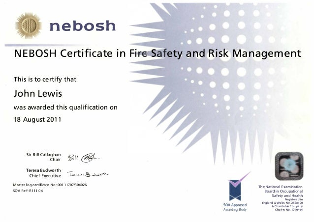 nebosh fire risk management essay Passing nebosh diploma exams print  exam questions will give you a specific instruction eg draft a management  passing nebosh diploma exams risk .