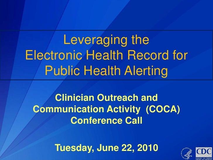 Cdc e health_record
