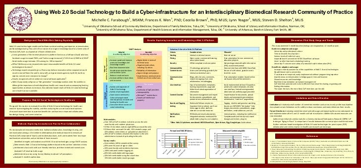 Using  Web  2.0  Social  Technology  to  Build  a  Cyber-­infrastructure  for  an  Interdisciplinary  Biomedical  Research...