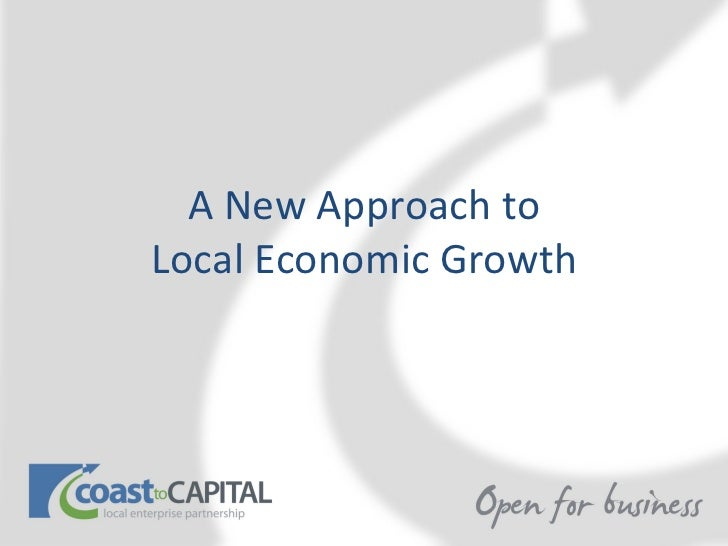 A New Approach toLocal Economic Growth