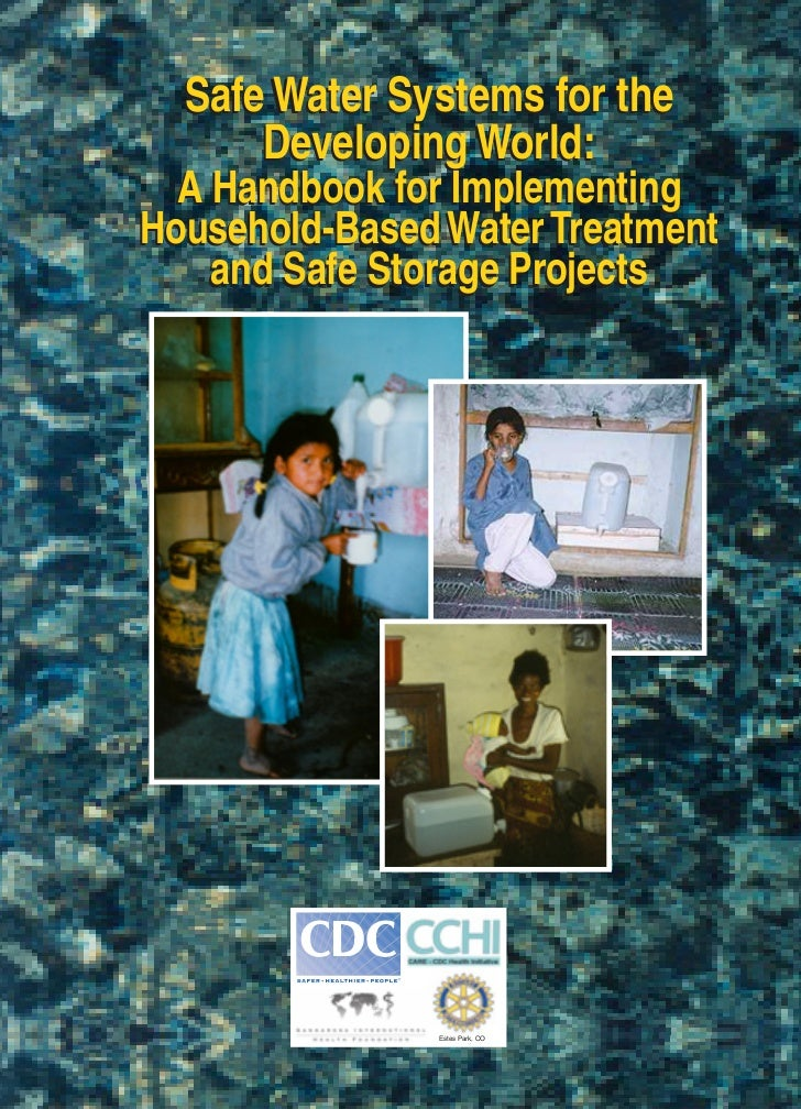 Cdc Safewater Systems Manual