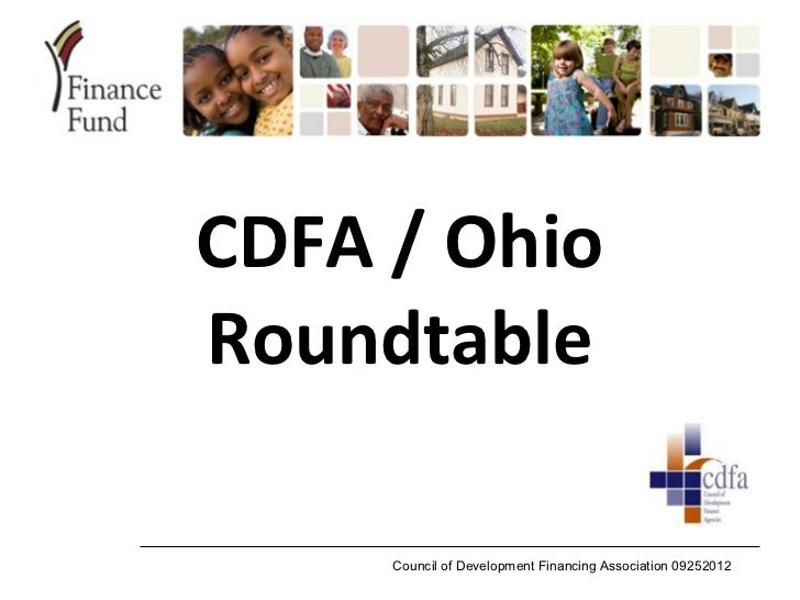CDFA / OhioRoundtable     Council of Development Financing Association 09252012
