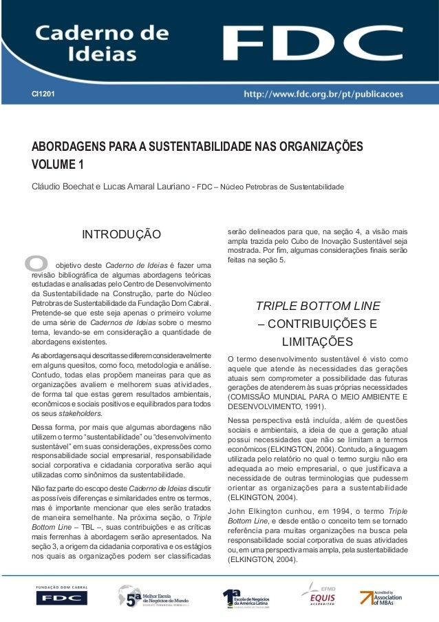 Gestão Estratégica do Suprimento e o Impacto no Desempenho das Empresas Brasileiras  CI1201  Abordagens para a Sustentabil...