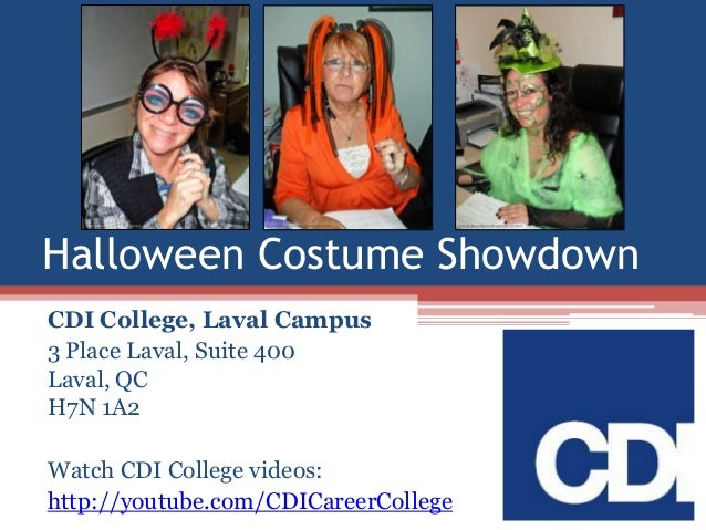 CDI College Halloween Costume Showdown in Laval, Quebec