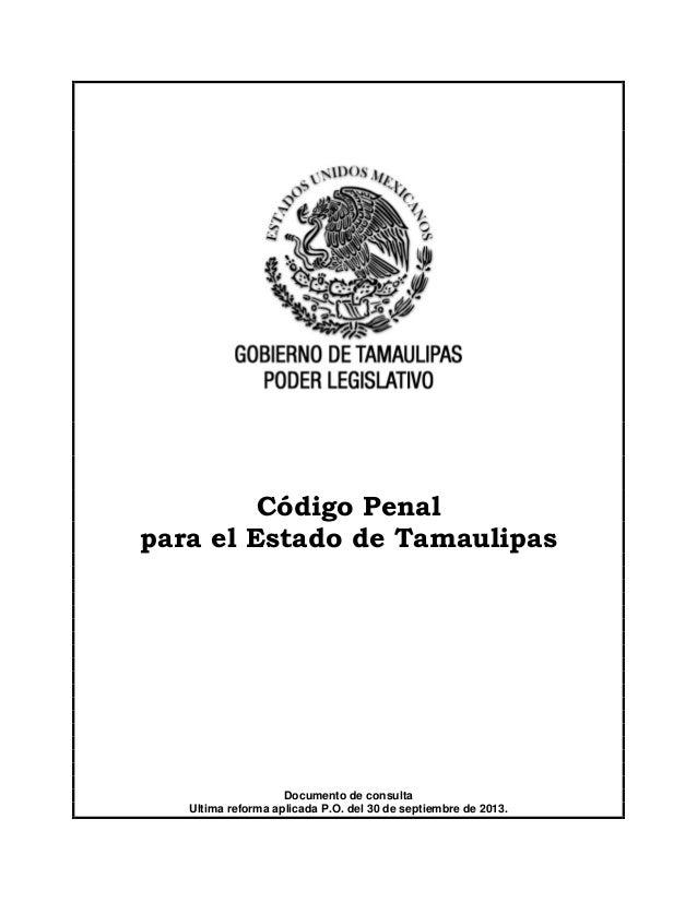 codigo penal estado tamaulipas: