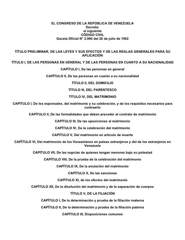 EL CONGRESO DE LA REPÚBLICA DE VENEZUELA                                             Decreta:                             ...