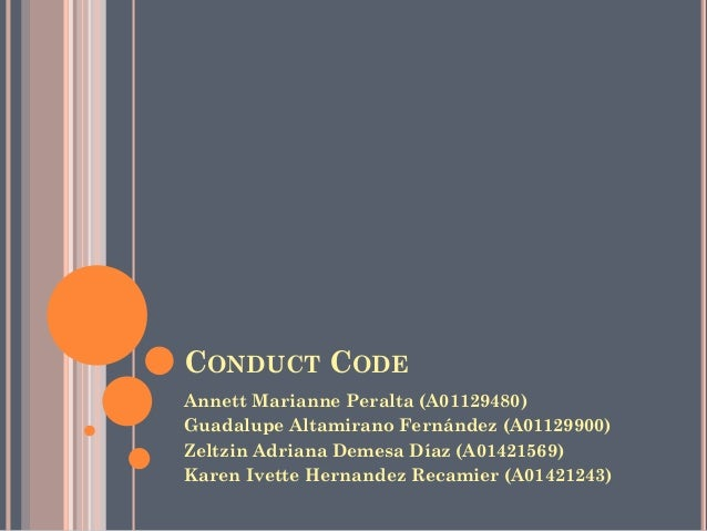 Code of conduct of an ITESM student