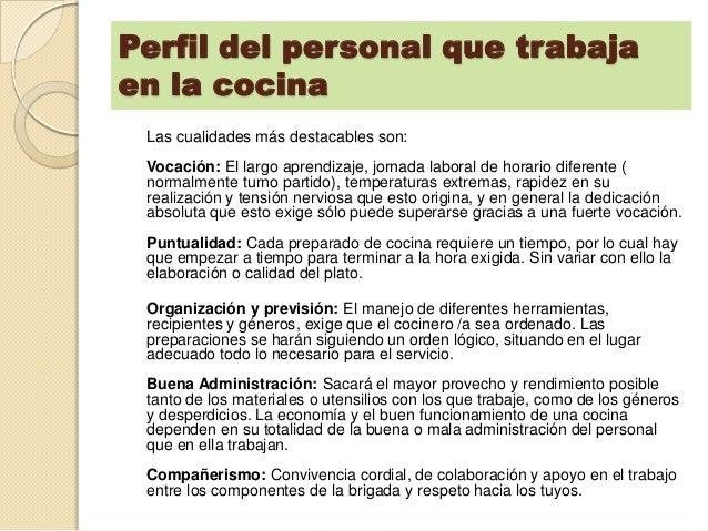 c digo de tica del t cnico en cocina On caracteristicas del personal de cocina