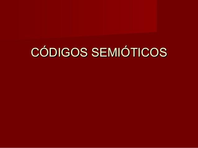 Códigos semióticos