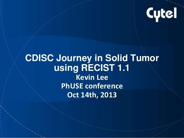 CDISC journey using RECISIT 1.1