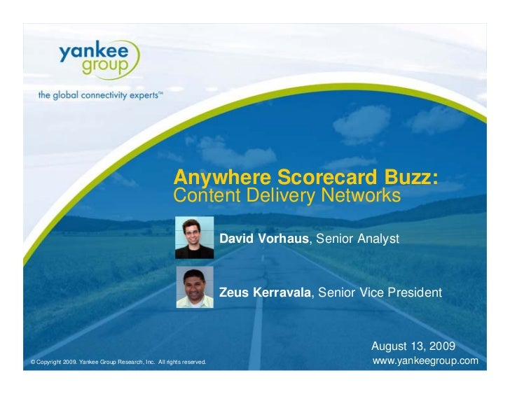 Anywhere Scorecard Buzz: Content Delivery Networks