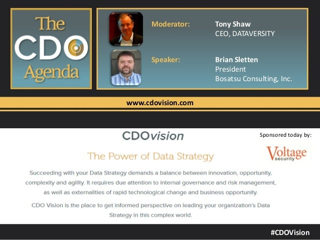 The CDO Agenda - Data Security and Encryption