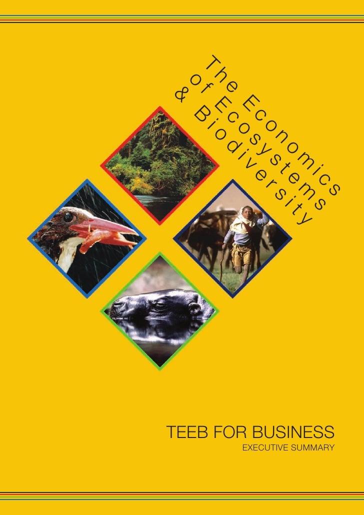 s                                             EXECUTIVE SUMMARY                     TEEB FOR BUSINESS              ic s   ...