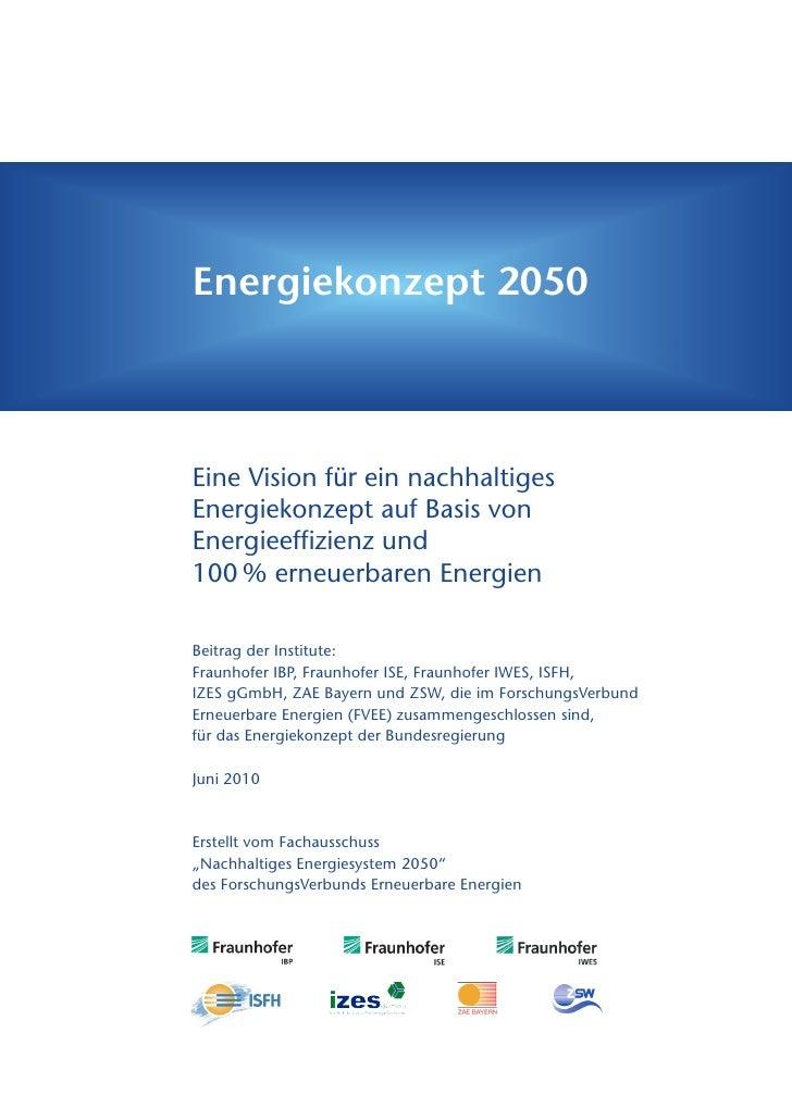 Vision fûr Nachhaltiges Energiekonzept 2050 - Deutschland