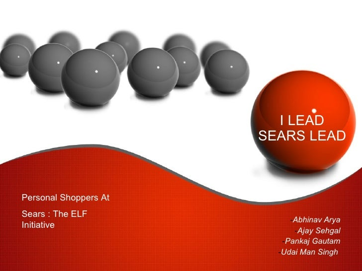 Marketing of Services by Sears Retail Group