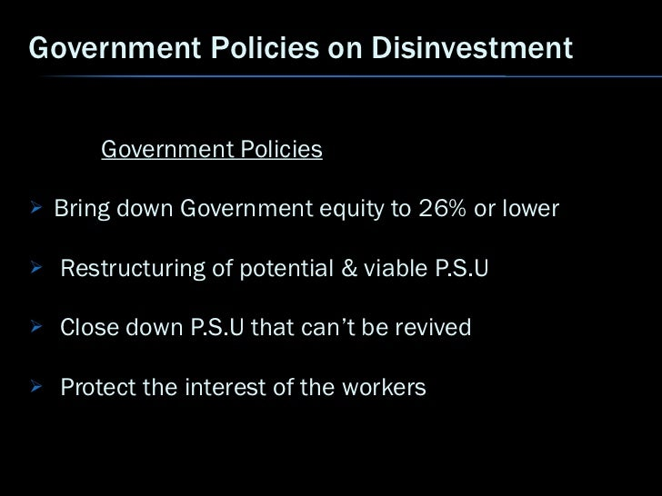 Essay on disinvestment in india
