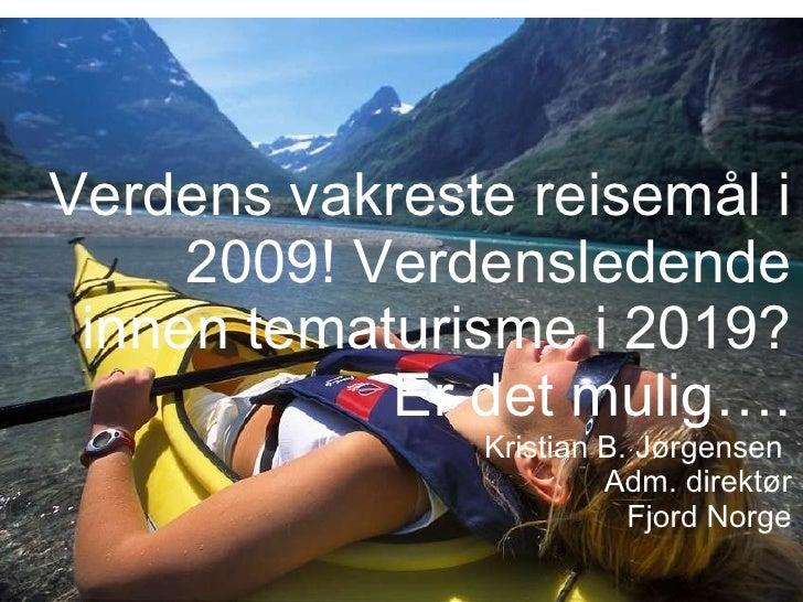 Fjord norge - et nasjonalt ekspertsenter