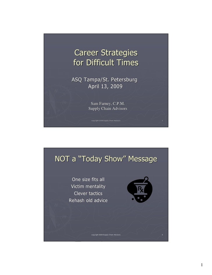 Career Strategies For Difficult Times