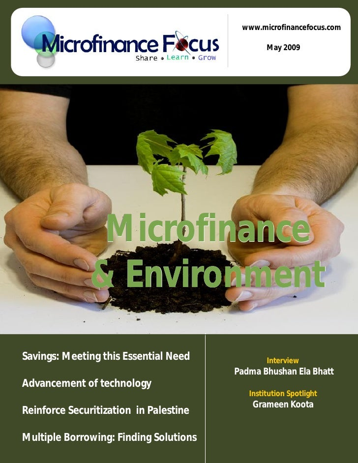 Microfinance Focus May 2009