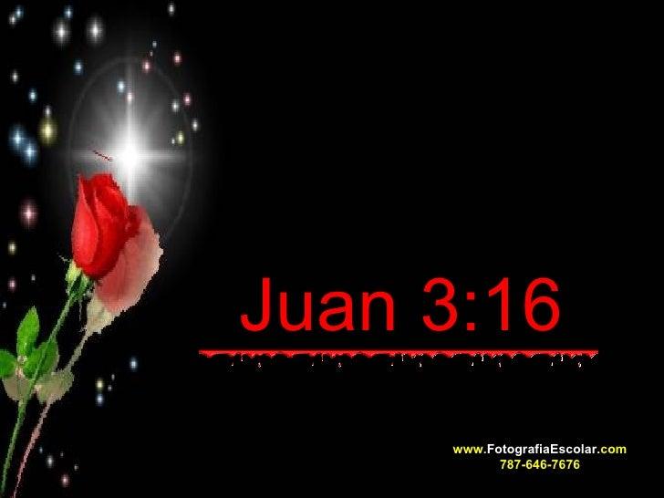 Juan 3:16   www. FotografiaEscolar. com 787-646-7676