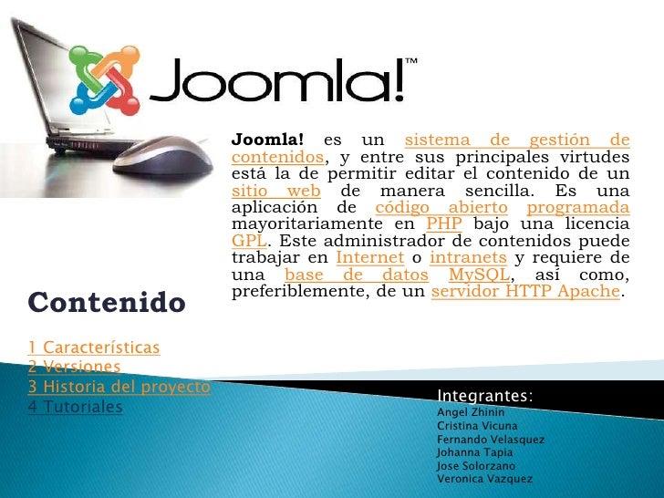 C:\documents and settings\administrador\escritorio\presentacion joomla