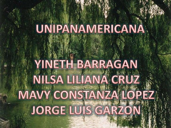 UNIPANAMERICANA<br />YINETH BARRAGAN<br />NILSA LILIANA CRUZ<br />MAVY CONSTANZA LOPEZ<br />JORGE LUIS GARZON<br />