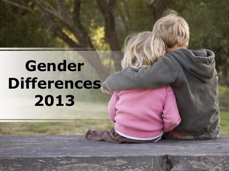 GenderDifferences   2013