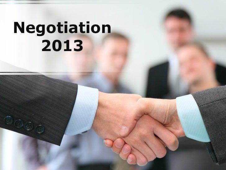 Negotiation   2013