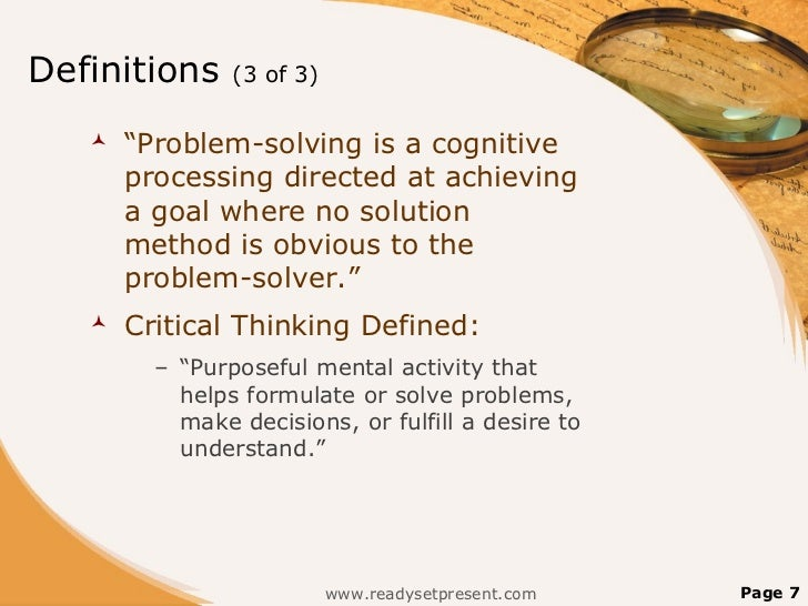 HOW TO DEVELOP A DEFINITION OF THE PROBLEM?