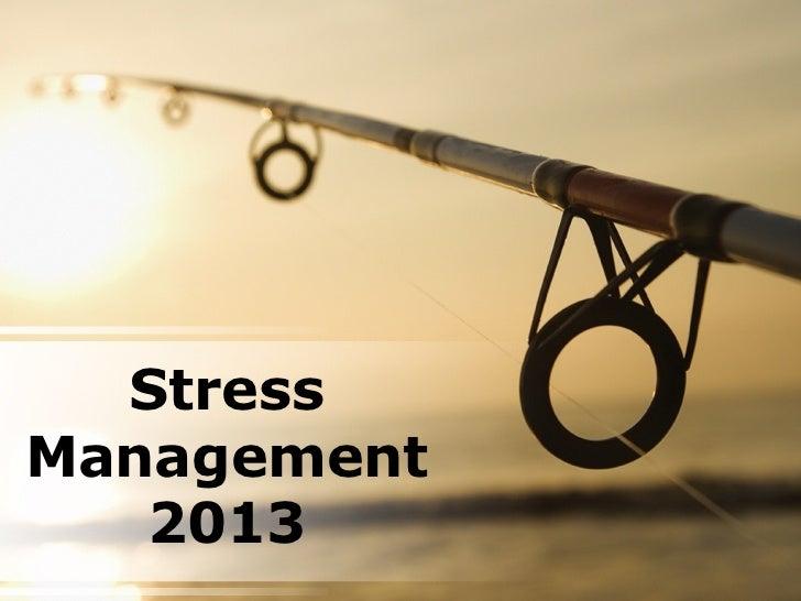 StressManagement   2013