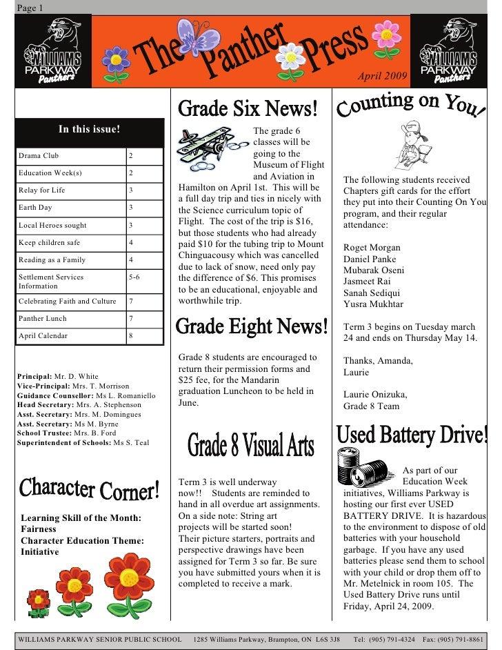 Page 1                                                                                                 April 2009         ...
