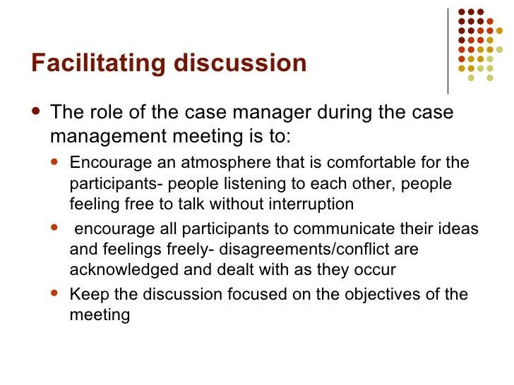 facilitating case management