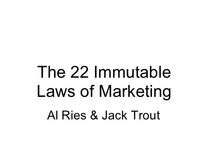 The 22 Immutable Laws of Marketing - Part 1