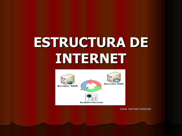 ESTRUCTURA DE INTERNET ISMAEL MARTINEZ MASEGOSA