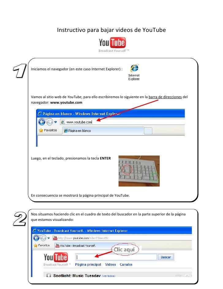 Instructivo para bajar videos de YouTube