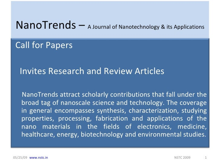 Research paper on nanotechnology