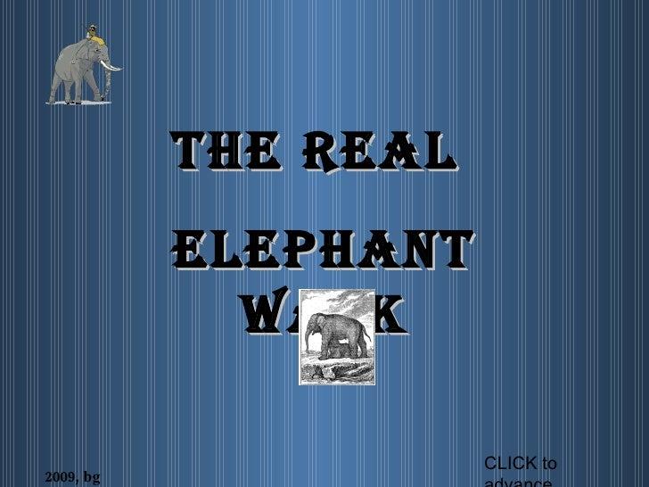 THE REAL  ELEPHANT WALK 2009, bg CLICK to advance