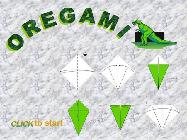 Origami is the traditional Japanese art of paper folding.  The goal of this art is to create a representation of an object...