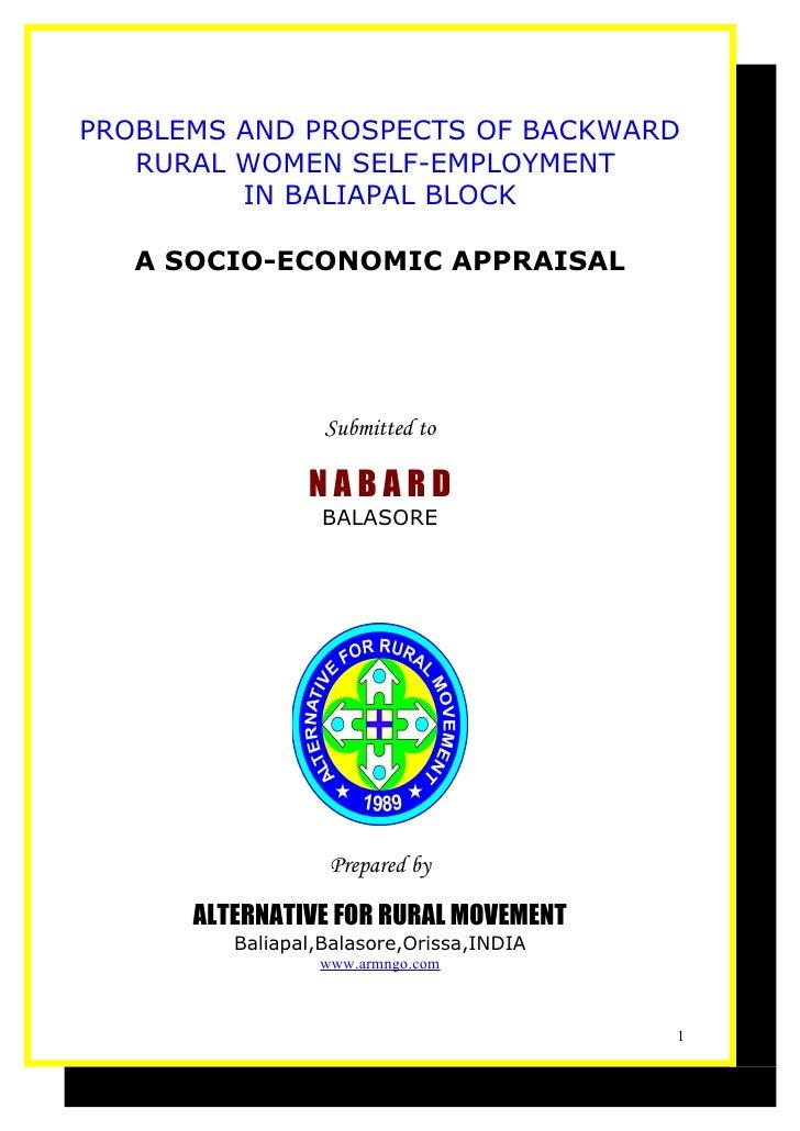 C:\Documents And Settings\Arm\Desktop\Socio Economic Appraisal A Study Report