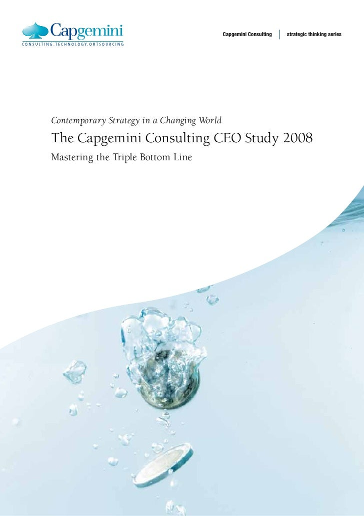 Capgemini Consulting   strategic thinking series     Contemporary Strategy in a Changing World  The Capgemini Consulting C...